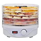 Deshidratador para alimentos, 6 compartimentos, temperatura ajustable 35-70 grados para alimentos, frutas, verduras