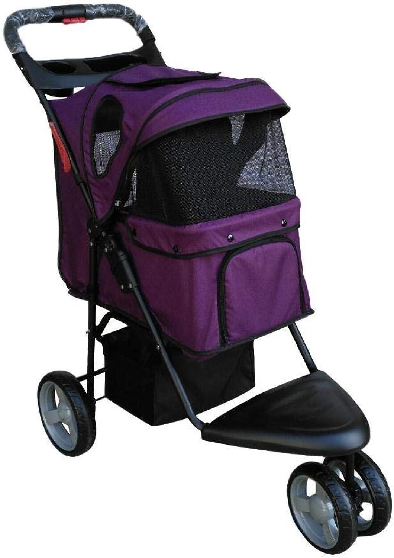 Daeou Pet StrollerOxford Cloth jogging Small trolley convenient folding pet car