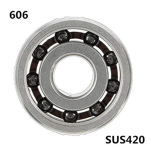 606 6x17x6mm Bearing SS420 Hybrid 9 Beads Ceramic Balls for Fidget Spinner - Machinery Parts Ball Bearing - 1 x Spinner Bearing