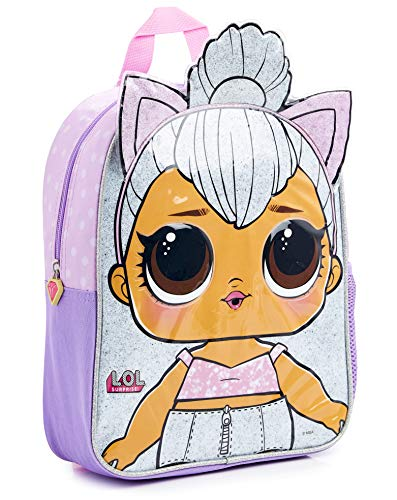L.O.L. Surprise! Backpack for Girls & Teens | Confetti Pop Latest Collection Gift Idea Featuring Dolls Queen Bee Rucksack, Merbaby School Bag, Kitty Queen, Leading Baby and Unicorn (Cat)