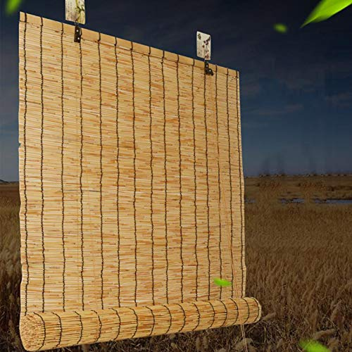 Persiana Bambu Exterior, Persianas De Caña, Sombreado/Transpirable, Ecological Sunshade Partition Curtain, Toldo Vertical, para Interiores/Exteriores