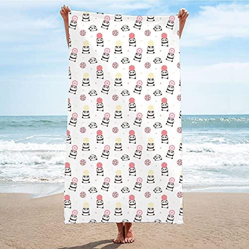 QAZW Toalla De Playa De Microfibra Antiarena para Hombres y Mujeres - Toalla De Playa para Adultos, Toalla De Baño para Piscina, Manta De Playa para Natación Deportiva, Súper Absorbente,I-80x160cm