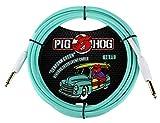 "Pig Hog PCH10SG 1/4"" to 1/4"" Seafoam Green Guitar Instrument Cable, 10 Feet"