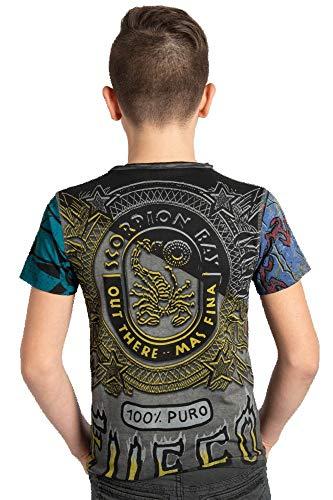 Scorpion Bay T-Shirt für Kinder, Fuel Double Schwarz XL