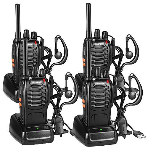Nestling 4PCS Talkies-Walkies, 16 Canaux Talkie Walkie Longue portée Rechargeable 1500mAh, Radios PMR...