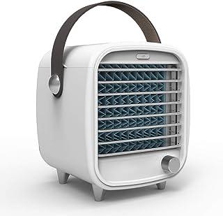 Muzhili3 - Ventilador de refrigeración para aire acondicionado de escritorio USB con refrigerador retro