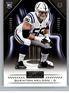 2018 Playbook Football #138 Quenton Nelson RC Rookie Card Indianapolis Colts Rookie Official NFL Card Produced by Panini