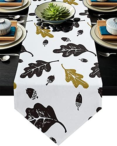 Corredor de Mesa de Palmeras Tropicales de Oro para el Hotel Boda Fiesta Pastel Floral Mantel decoración del hogar (Color : 9, Size : 36x183cm)