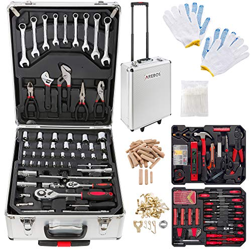 Boîte à outils 1005 pièces Boîte à outils Coffret...
