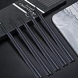 JeoPoom 5 Paia Bacchette in Lega di Alta qualità, Bacchette Riutilizzabili Lavabili in Lavastoviglie, Set Regalo Bacchette Cinesi