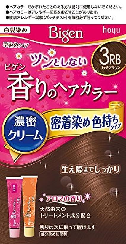 噴水一口ひもビゲン香りのヘアカラークリーム3RB (リッチブラウン) 40g+40g ホーユー