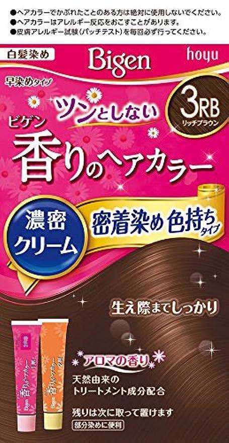 いとこ予報安定ビゲン香りのヘアカラークリーム3RB (リッチブラウン) 40g+40g ホーユー