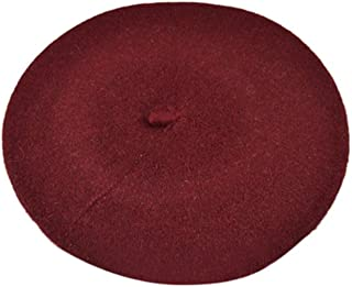 ICSTH French Beret - Wool Solid Color Womens Beanie Cap Hat