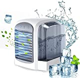 Mini Air Cooler -2021 Portable AC Personal Air Conditioner,Fan Personal Space Mini Evaporative Air Cooler Rechargeable Water-Cooled Air Conditioner for Camping/Home/Office (Gray)