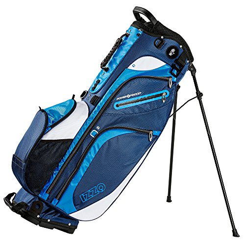 Izzo Golf Versa Riding/Walking Hybrid Black and Grey and Golf Stand Bag