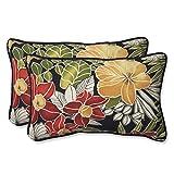 Pillow Perfect Outdoor Clemens Rectangular Throw Pillow, Noir, Set of 2 lumbar cushion Dec, 2020