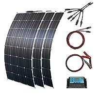 ソーラーパネル フレキシブル 300w 3枚100W 12V 単結晶太陽光発電キット 30A コントローラー RV 船舶 テント アウトドア 住宅 防災などに活躍 (300W ソーラーキット)