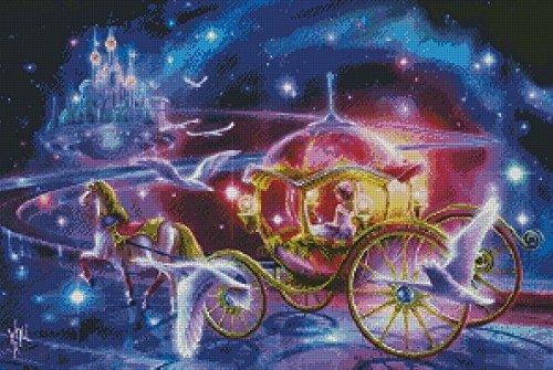 ししゅう糸 クロスステッチ刺繍キット 童話世界馬車