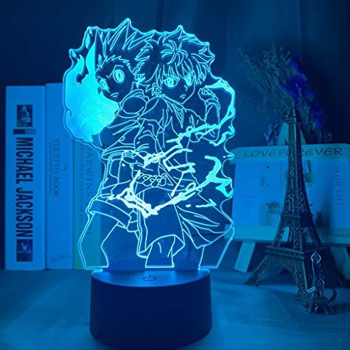 3d Nachtlampe Japan Anime Rollen Hunter X Hunter für Kinder Kind Schlafzimmer Dekor Nachtlicht Manga Geschenk Hunter X Hunter Nachtlicht