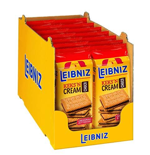 Leibniz Keks'n Cream Choco 14er Pack - zwei original Butterkekse mit Kakaocremefüllung - Schokoladenkekse -Wiederverschließbar (14 x 228 g)