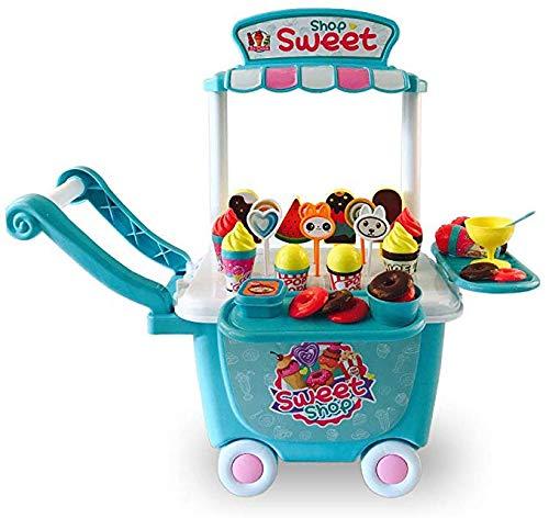 Parque Infantil, Juguetes para Niños Food Truck/Ice Cream Pretend Juguetes Set, Educación para Desarrollo Temprano Los Niños Actividad Las Muchachas Niño, 45 Pcs 5,4,3,2 Años