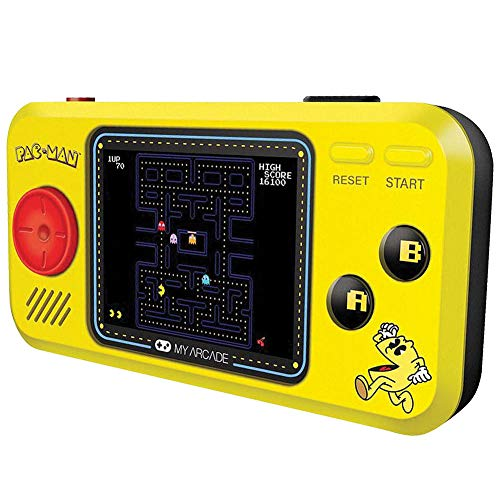"Johnson Smith Co. - DREAMGEAR Pac Man Pocket Player - Handheld w/ 2.75"" Full Color Screen & Headphone Jack"