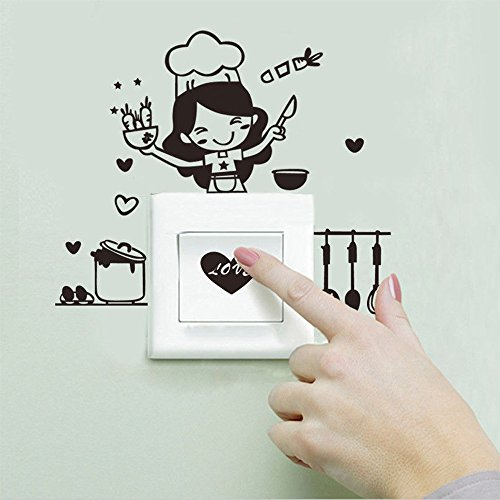 Oppal Etiqueta engomada del Interruptor de la luz de la Cocina Etiqueta...