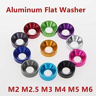 M3 Countersunk Washers Counterbore Hole,Aluminium Alloy,Metric,PK20,Titanium Gray