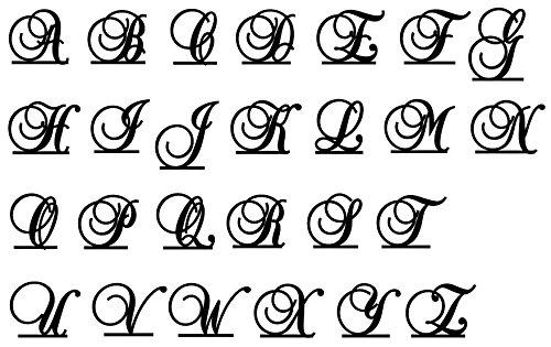 Monogram Inital Letter Acrylic Cake Topper Wedding A B C D E F G H I J K L M N O P Q R S T U V W X Y Z & (G, Glittery Gold)