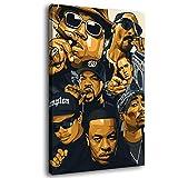 Legends Never Die Rap Sänger Old School Rap-Poster