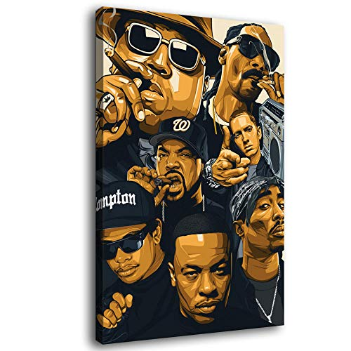 LOPIU Legends Never Die Rap Singer Old School Rap Posters Hip-hop Art Canvas Art Poster and Wall Art Picture Print Modern Family Bedroom Decor Posters