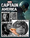 Captain America Dots Lines Spirals Waves Coloring Book: An Fabulous Dots Lines Spirals Waves Coloring Book For Relaxation And Stress Relief. A bunch Of Unique And Detailed Hand-Drawn Illustrations Of Captain America