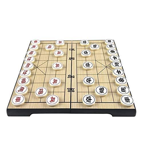 Jszzz Chinesisches Schach Folding Kunststoff China Schach Magnetische Eigenschaften Magnetic Chess Games Entertainment Brettspiel Schach Set Pieces (Größe: 24cm * 24cm * 1,9 cm)