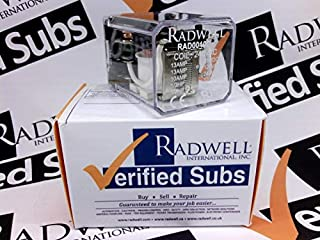 RADWELL VERIFIED SUBSTITUTE HP32240VACSUB Relay - 240VAC, 13A 2PDT Plug in Relay- Replaces AROMAT PN: HP32240VAC