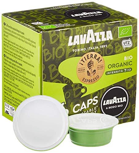 Lavazza 16 A Modo Mio Eco Caps Kapseln, kompostierbar, Kaffee Espresso Tierra Bio Organic, 1 x 16er Pack (120 g)
