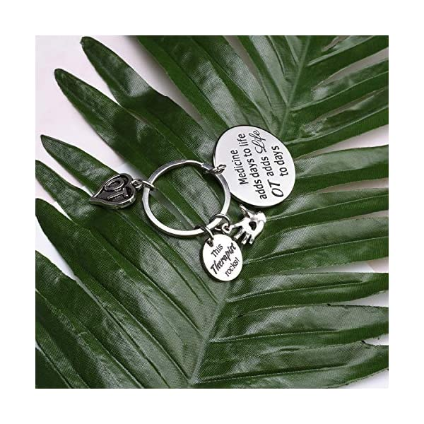 Occupational Therapist Gift Occupational Therapy Jewelry Medicine Adds Days To Life OT Adds Life To Days Keychain Graduation Gift for OT