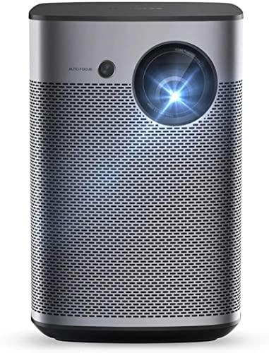 PROYECTOR QOHG Full HD DLP Mini Proyector WiFi Soporte portátil 4k 3D CEATRO 3D con Batty Home Entretenimiento