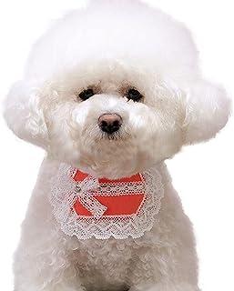 Licogel Pet Bib Fashion Lace Decorative Breathable Cute Soft Bowknot Photo Prop Puppy Drool Bib Dog Parties Costume Party ...
