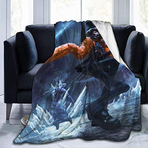 JONINOT Anime One Piece Coperta Copriletto in Microfibra Copriletto in Morbido Corallo 80 'x60' Pollici