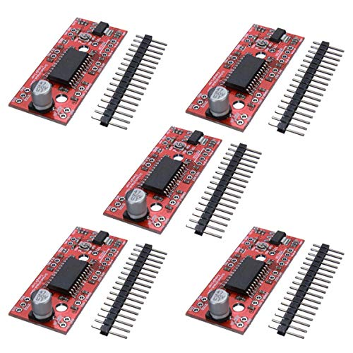 Confezione da 5 pezzi A3967 EasyDriver Shield Driver motore passo-passo Modulo V44 per stampante 3D Arduino