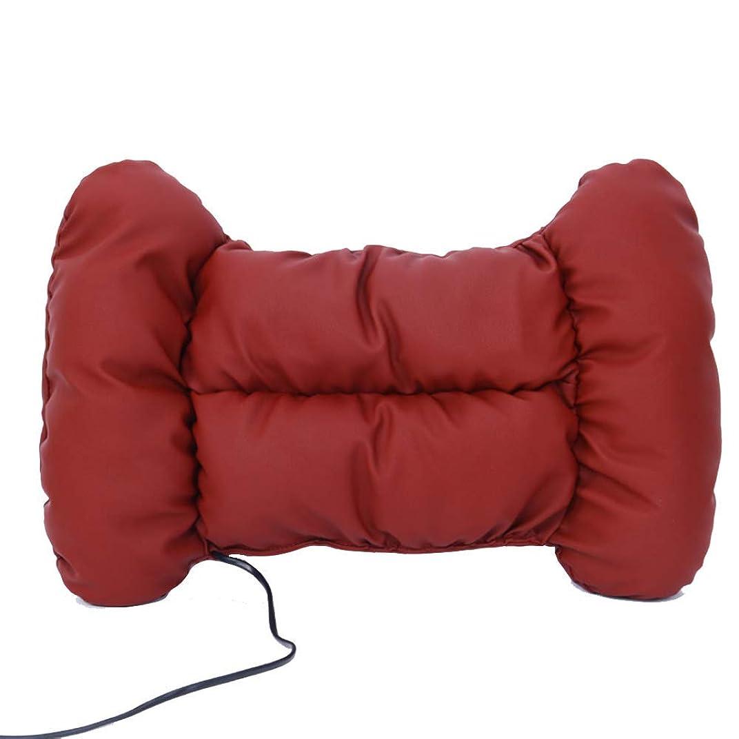 吐き出す大陸パーセント車の電気マッサージの腰の車のホームオフィスのクッションマイクロファイバーの皮膚材料は、疲れを運転しやすくする,Red