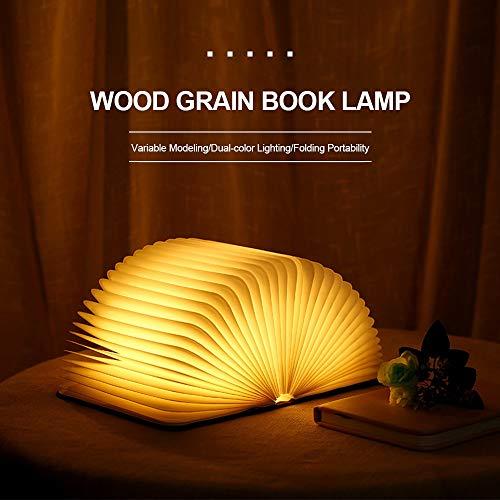 En Livre Bois Livre De Pliable De Table Forme Lampe Rechargeable Blanche Décoration Lumière Led Lampe Nuit Chaude En Lumière pzVUqMS