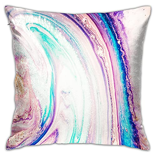 MZTYPLK Decorative Square Pillow Covers,liquid marble pattern beautiful abstract background,Pillowcases Cushion Cover Throw Home Decor for Sofa Car Bedroom (45x45cm)(2PCS)