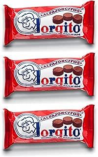 Alfajores JORGITO MINI Chocolate Rellenos con Dulce de Leche, 3 Pack