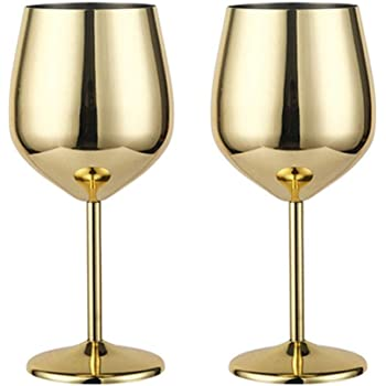 Stainless Steel Red Wine Glass Metal Stemmed Wine Glass Shatter Proof White Red Wine Cocktail Glasses Unbreakable BPA Free Goblets Juice Drink Champagne Goblet Party Barware Kitchen Tools