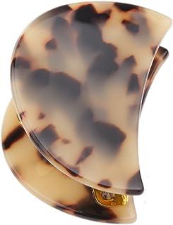Une Large écaille marron ovale Barrette Pince à cheveux