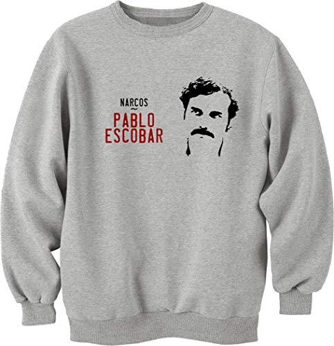 Nothingtowear Unisex Escobar Narcos Sweatshirt Jumper Grau S
