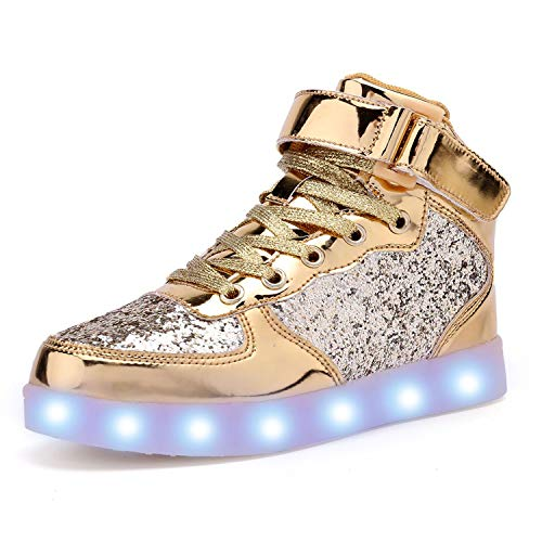 AoSiFu Kids LED Light Up Shoes Breathable Kids Girls...