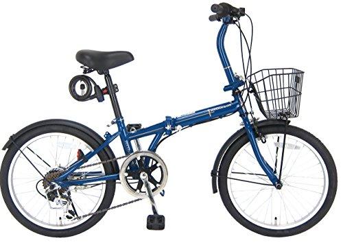 JEFFERYS(ジェフリーズ) 折りたたみ自転車 20インチ AMADEUS FDB206 シマノ6段変速 前後泥除け/カゴ/LEDラ...