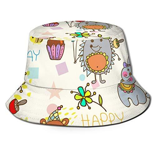 Sombrero de pescador 3D divertido animal, fiesta de cumpleaños plegable, sombrero de verano para hombres y mujeres negro